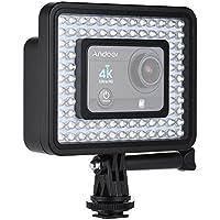Andoer Cámara de Acción LED Luz de Timbre Grano 80pcs Regulable para Héroe GoPro 5/4/3 +/3 Videocámara Deportiva