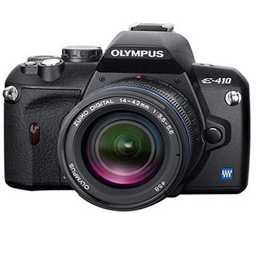 Olympus E-410 SLR-Digitalkamera (10 Megapixel, LifeView) Double Zoom Kit inkl. EZ1442 und EZ4015 Olympus E-410 Digitale Slr