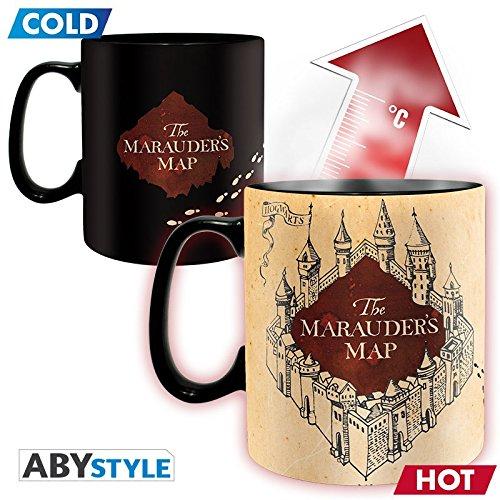 ABYstyle - HARRY POTTER Tazza magica Heat Change Mappa del Malandrino (per il calore) 460 ml