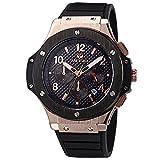MEGIR Relojes Militar Hombre Grande oro rosa de cuarzo, negro silicona banda, cronógrafo y...