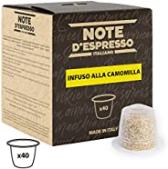 Note d'Espresso Chamomile Infusion Capsules exclusively Nespresso* Compatible 2g x 40 Capsules