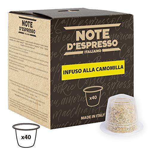 Note D'Espresso - Cápsulas de manzanilla compatibles con cafeteras Nespresso, 2g (caja de 40 unidades)