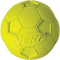 NERF Balle de Foot avec Sifflet pour Chien Taille M - Couleurs aléatoires