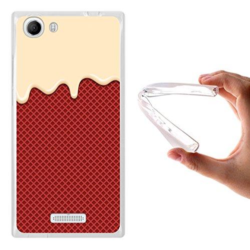 WoowCase Wiko Ridge FAB 4G Hülle, Handyhülle Silikon für [ Wiko Ridge FAB 4G ] Sahne & Waffel Handytasche Handy Cover Case Schutzhülle Flexible TPU - Transparent