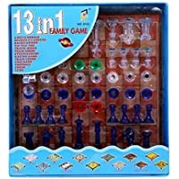 13 in 1 Ludo, Chess, Snake and Ladder and More Board Game for Kids & Family Fun Game