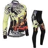 (Cojín 3D)(traje tamaño:M) ropa larga sudo maillot mujer chaleco Moda para Jerseys transpirable ciclismo rendimiento de rompevientos manga los