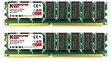 KOMPUTERBAY 2GB ( 2 X 1GB ) DDR DIMM (184 PIN) 333Mhz DDR333 PC2700 Desktop Arbeitsspeicher mit Samsung chips