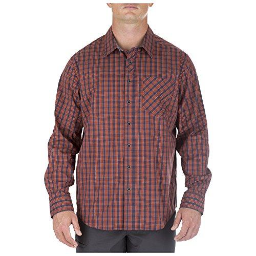 5.11Herren Covert Flex Long Sleeve Shirt, Herren, Fireball, Large - 5.11 Holster Shirt