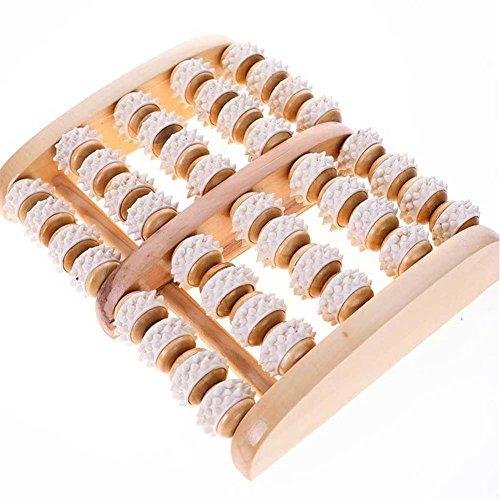 Dr Nezix Grand rouleau de massage double pied - Fasciite plantaire, talon et arche soulagement de la douleur - Feuilles laminées imprimées et instructions détaillées incluses
