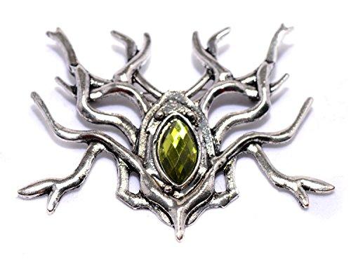 Der Hobbit-Herr der Thranduil Brosche Spinne Brosche groß Silber Eleven King Pin Kostüm Elf King (Tv Inspirierte Kostüme)
