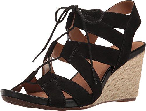 Chester Acina 8 Clarks Sandals Black Suede M Artisan Wedge SMzLVpGUq