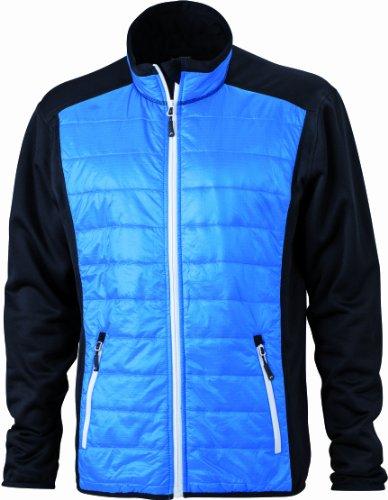 James & Nicholson Damen Jacke Jacke Stretchfleece Ladies' Hybrid Jacket black/cobalt/white