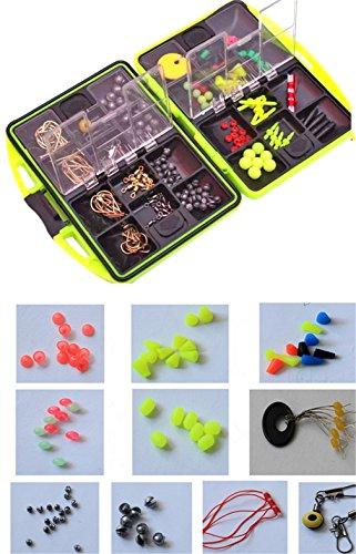 Cftrum 24 tipi 120pcs pesca accessori ami da pesca girevoli peso sinker pesca con scatola pesca