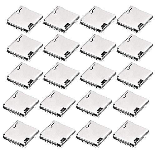 ZCHXD Micro SD (TF) Card Socket Holder 9 Pin Spring Loaded for Mobile Phone 20pcs - Spring Pins Loaded
