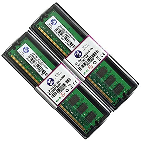 NEW 4GB 2x2GB DDR2 667 PC2 5300 5300U Non ECC Memory RAM 240-pin Desktop PC CL5 By XUM