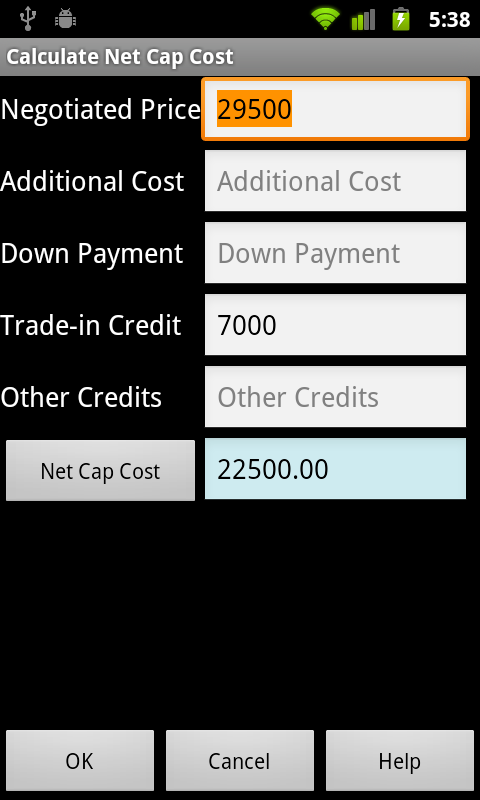 Car Lease Calculator >> Car Leasing Calculator Free Amazon Co Uk Appstore For Android