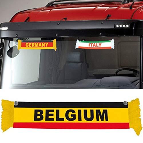 TRUCK DUCK® Camion voiture Mini écharpe Europe Europe Mini Echarpe fanion UE Drapeau ventouse Miroir décoratif