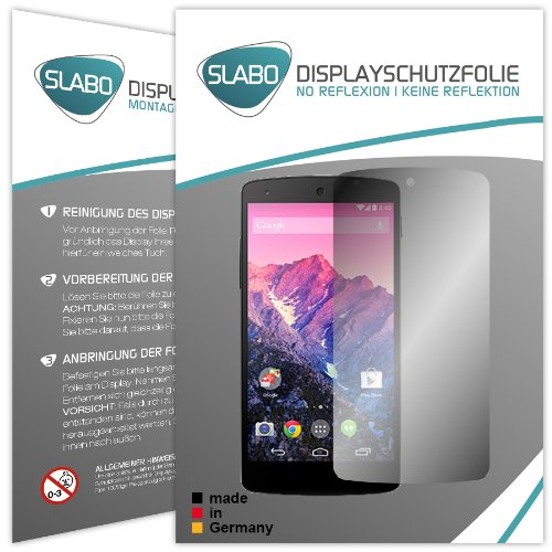 4-x-slabo-film-de-protection-dcran-lg-google-nexus-5-protection-cran-film-de-protection-no-reflexion