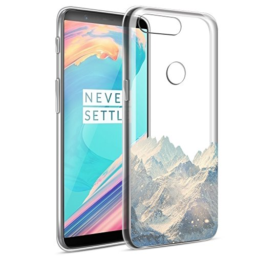 Eouine OnePlus 5T Hülle, Ultra Slim Soft TPU Muster SchutzHülle Silikon Stoßfest Bumper Case Cover für OnePlus 5T (6 Zoll) Smartphone (Schneeberg)