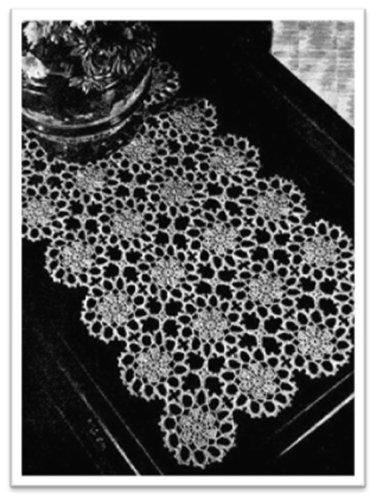 #2787 FLOWER RUNNER VINTAGE CROCHET PATTERN (English Edition)