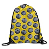 FAFANIQ AOOPK Blueberry Drawstring Backpack Rucksack Shoulder Bags Training Gym Sack for Man and Women