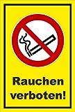 Aufkleber - Rauchen verboten - Rauch-Verbot - entspr. DIN ISO 7010 / ASR A1.3 – 30x20cm – S00355-005-C +++ in 20 Varianten erhältlich
