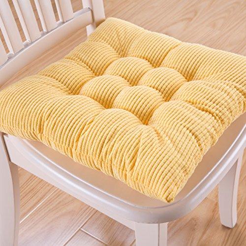 LJu0026XJ Esszimmer Stühle Kissen,Sitzkissen Thickened Kissen Soft Solid Farbe  Stuhlkissen Mit Krawatten Sitzkissen Für ...