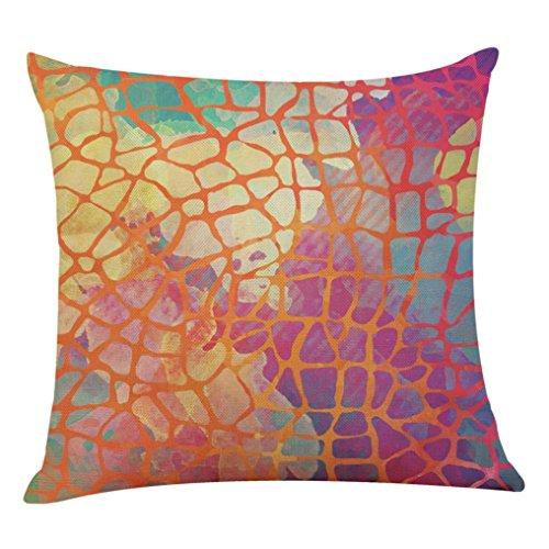 Sofa Kissenbezug sunnymi Bett Kissen Cover Flachs,Aquarell der abstrakten Kunst,Bettwäsche Babybett Sessel (C, 45 * 45cm)