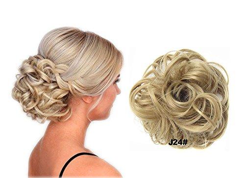 Haarteil hairpiece Haarverdichtung Zopf Haarband Haarschmuck schokolade Dunkle Bindung 24 # ()