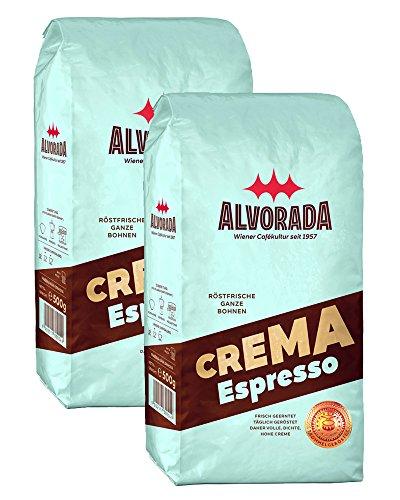 Alvorada, Crema Espresso, Arabica Kaffeebohnen, 2x500g (1000g)