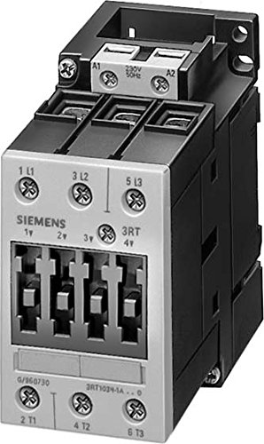 SIEMENS SIRIUS - CONTACTOR AC-3 5 5KW CORRIENTE ALTERNA 240V 3 POLOS 2NA+2NC TAMAñO S0