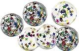 Partynelly Großer Flummi Sterne | 6 STÜCK | 4,5 cm | Mitgebsel | Kindergeburtstag | Flummy | Flummis