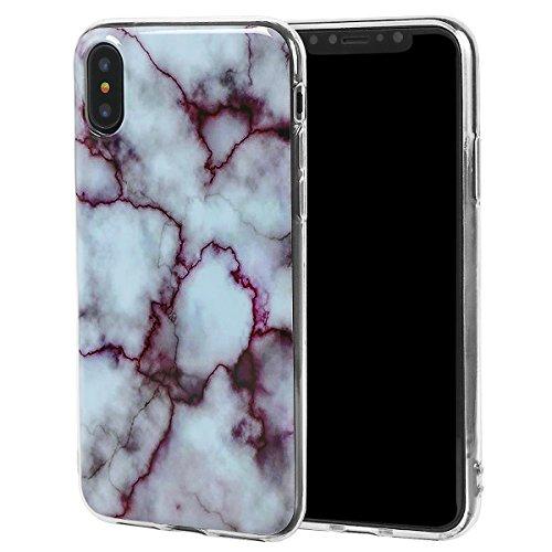 xhorizon Couvercle Housse en TPU Souple Flexible Marbre Pierre Motif Séries Protéger Contre Rayure Doigt Léger Convenable pour iPhone X / iPhone 10 #1