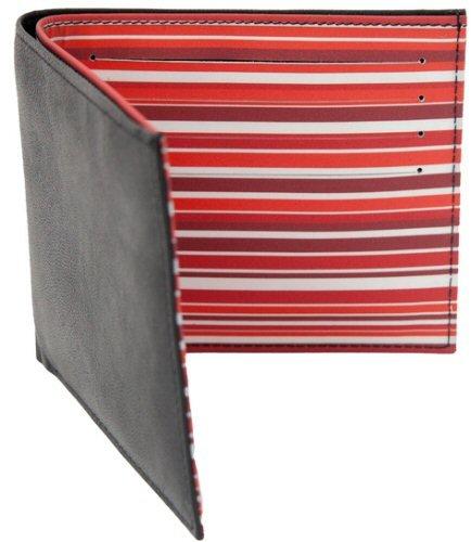 """Herren Leder Brieftasche, dekorative mehrfarbige Innenseite, """"Ashlie Leather"""" Design AC2037 Pfingstrose Rot"""