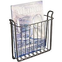 MetroDecor mDesign revistero - Revistero Pared para el baño, la Cocina o la Oficina - Revistero Pared metálico para Libros y revistas - Color Bronce