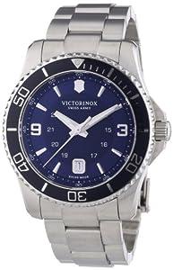 Victorinox Swiss Army Maverick 241602 - Reloj analógico de cuarzo para hombre, correa de acero inoxidable color plateado (agujas luminiscentes) de Victorinox Swiss Army