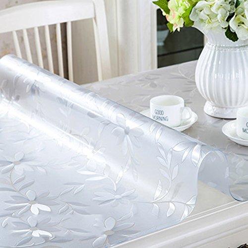 Imperméable nappe Toile en PVC Matière imperméable à l'eau en verre souple Papier peint transparent extrêmement épais Toiles en plastique Table basse en cristal table à manger (épaisseur facultative) (taille facultative) pour dîner ( Couleur : 2.0mm , taille : 40*60cm )