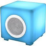 Hertzmann 36-2D-012 Enceinte haut-parleur Bluetooth lumineuse étanche Cube LED Multicolore