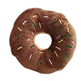 Lorsoul Pet Donut Shape Peluche Giocattoli del Gioco Pet Chew Squeaky Toy Dog Cat Sound Playing Tool - caffè