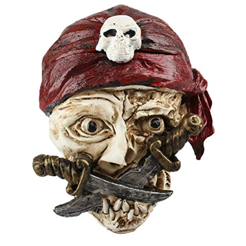 BESTOYARD Cenicero de Resina Calavera de Halloween, decoración...