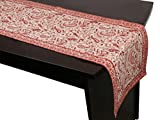#10: Stole & Yarn Red Cotton Table Runner - 19904