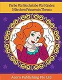 Farbe Für Buchstabe Für Kinder: Märchen Prinzessin Thema