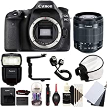 Canon Eos 80D 24.2MP Digital SLR Camera With 18-55mm EF-is STM Lens, 430EX LLL Non RT Flash And Accessory Bundle