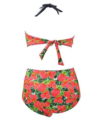 Gladiolus Damen Push-Up Drucken Bikinis Bademode Beachwear Badeanzug Zweiteilig Strandmode Bikini-Sets Große Größe Schwarz