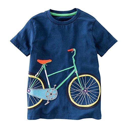 MOIKA Baby Jungen Kleidung Set, 24Monate -8Jahre alt Kleinkind Kinder Baby Jungen Mädchen Kleidung Kurzarm Cartoon Auto Fahrrad Vogel Darts Print Tops T-Shirt ()