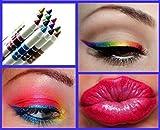 Schmink Pinsel,Amlaiworld Frau Glitter Lipliner Lidschatten Eyeliner Stift Make-up Kosmetik-Sets 12 Farben