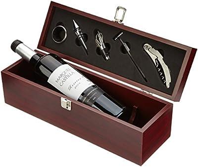 Geschenkset Weinset Marques de Castilla Reserva Tempranillo trocken in Holzkiste (1 x 0.75 l)