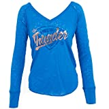 Adidas Damen Oklahoma City Thunder LS all That Glitters Shirt Luftwaffe Blau
