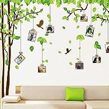 ufengke® Grande Albero Picture Photo Frame Adesivi Murali, Camera da Letto Soggiorno Adesivi da Parete Removibili/Stickers Murali/Decorazione Murale, Set di 2 Fogli