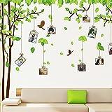 ufengke® Großes Bild Fotorahmen Baum Wandsticker,Wohnzimmer Schlafzimmer Entfernbare Wandtattoos Wandbilder, Set von 2 Blatt